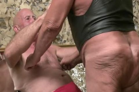Three Grandpas pounding together
