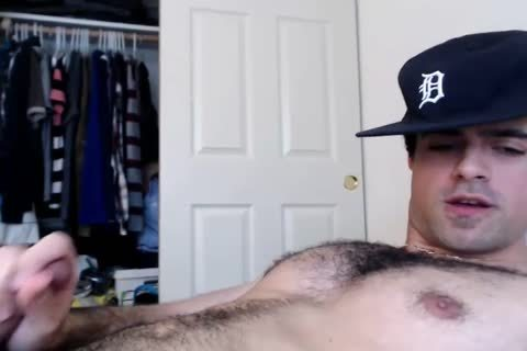 cam cum: Straight hairy Daddy Jerks And Cums