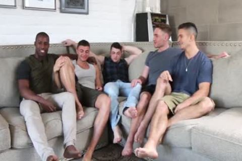 Hottest young guys! gay 5-Some fuckfest! All those young males So mad To poke Each Other!