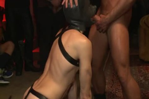 fastened Up And fucked In Front Of 100 Excited Males