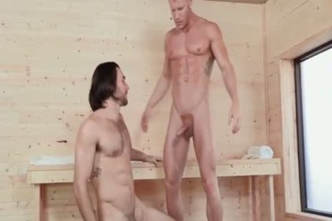 Woody Fox & Johnny V Sauna Sex